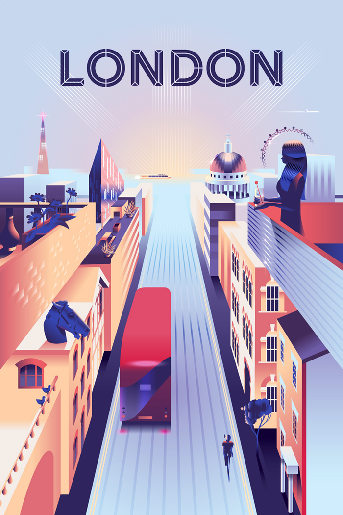 London poster Airbnb